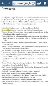 """Danksagung am Ende des neu erscheinenden Buches von Matthias Greulich und Elmar Neveling """"Anatomie des modernen Spiels""""."""
