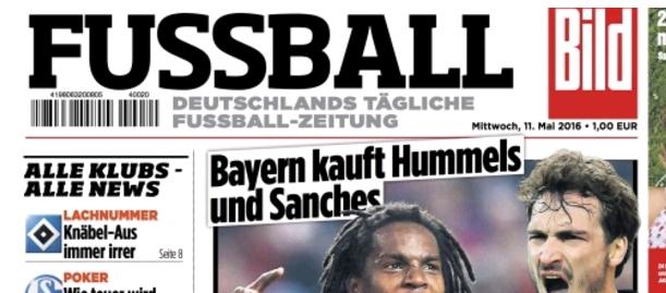 """Wieviel Dosis Fußball braucht der Fan? Mit FUSSBALL-Bild ist gerade eine tägliche Fußballzeitung auf dem Markt. Was in Italien und Spanien existiert, kann auch hier klappen. Aber bitte bloß nichts """"Aufgewärmtes""""…"""