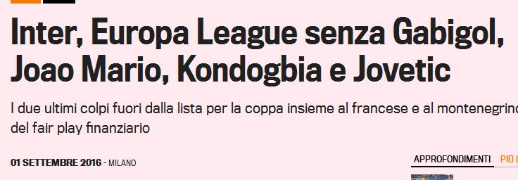 """Das Financial Fairplay erfüllt seinen Sinn gegen Wettbewerbsverzerrung: INTER Mailand muss in der Europa-League gleich auf """"Gabigol"""" verzichten"""