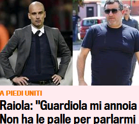"""Spielerberater: Nach Klopp bekommt nun auch Guardiola sein Fett ab (""""Peps Fußball ist langweilig"""") – Mino Raiola teilt weiter aus, was er bezweckt, bleibt offen…"""