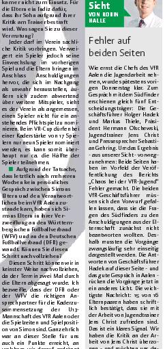 """Juniorenfußball, VfR Aalen: """"Never ending story"""" III – Nun bemühte Geschäftsführer Hadek so ziemlich Alles, um die Verfehlungen in der U13 irgendwie zu relativieren. Krisen-PR funktioniert anders, und Nachwuchsarbeit auch!"""