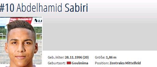 In eigener Sache – und das Scouting: Abdelhamid Sabiri, von der Zweiten des FCN flugs in die Erste