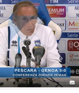 Zdenek Zeman in Pescara: Zum Einstieg gleich mit 5:0 über Genua gestartet. Der Tscheche lässt ein flexibles 4:3:3 spielen