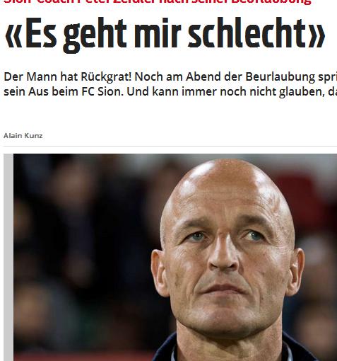 Trainer-Karriere: In der Schweiz ticken die Uhren anders – besonders bei allmächtigen Präsidenten! Fußballlehrer Peter Zeidler ist seinen Job beim FC Sion los. Vom Schlusslicht auf den 3. Platz gebracht, dazu das Pokalfinale erreicht, doch das war wohl nicht genug…